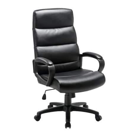 Niceday Malaga Leather Faced Executive Chair Black