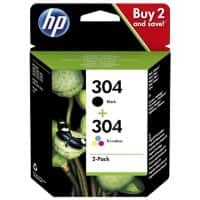 HP 304 Original Ink Cartridge 3JB05AE Black, Tri-colour Pack of 2