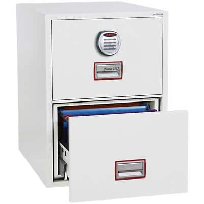 Phoenix Filing Cabinet with Electronic Lock FS2262E 62L 720 x 530 x 810 mm White