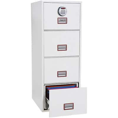 Phoenix Filing Cabinet with Electronic Lock FS2264E 62L 1405 x 530 x 805 mm White
