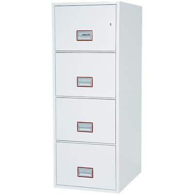 Phoenix Filing Cabinet with Key Lock FS2264K 62L 1405 x 530 x 805 mm White