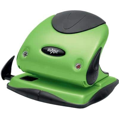 Rexel 2 Hole Punch Choices P225 Green, Black 25 Sheets