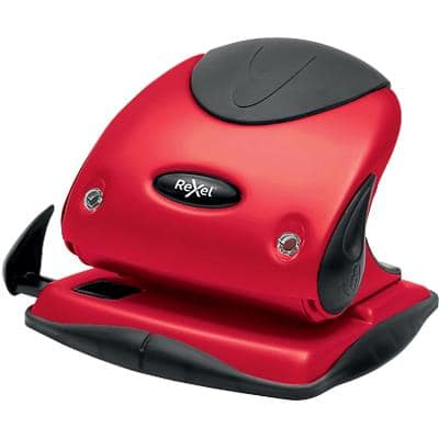 Rexel 2 Hole Punch Choices P225 Red, Black 25 Sheets