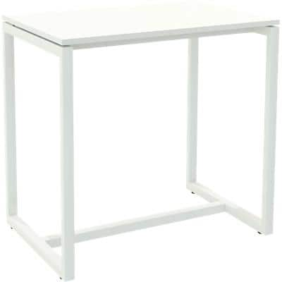 Paperflow Rectangular High Table with White Melamine Top and White Frame easyDesk 1140 x 750 x 1100mm