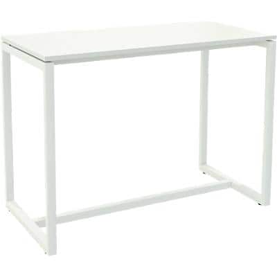 Paperflow Rectangular High Table with White Melamine Top and White Frame easyDesk 1500 x 750 x 1100mm