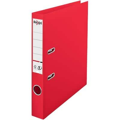 Rexel Choices Lever Arch File 50 mm Polypropylene 2 Rings Red