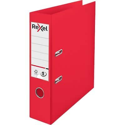 Rexel Choices Lever Arch File 75 mm Polypropylene 2 Rings Red
