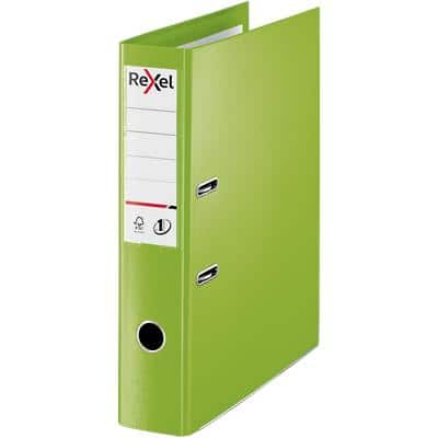 Rexel Choices Lever Arch File Foolscap 75 mm Polypropylene 2 ring Green