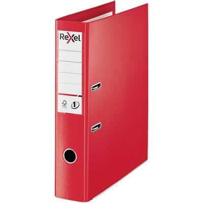 Rexel Choices Lever Arch File 75 mm Polypropylene 2 ring Red