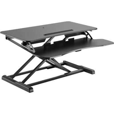 Proper Desk Stand Up Work Station 800 x 615 x 106 - 500mm Black