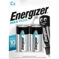 Energizer C Alkaline Batteries Max Plus LR14 1.5V 2 Pieces