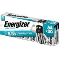 Energizer AA Alkaline Batteries Max Plus LR6 1.5V 20 Pieces
