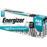 Energizer AAA Alkaline Batteries Max Plus LR03 1.5V 20 Pieces