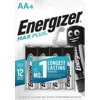 Energizer AA Alkaline Batteries Max Plus LR6 1.5V 4 Pieces