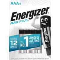 Energizer AAA Alkaline Batteries Max Plus LR03 1.5V 4 Pieces