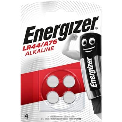 Energizer Button Cell Batteries LR44 4 Pieces