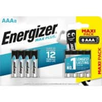 Energizer Battery Max Plus AAA 8 Pieces