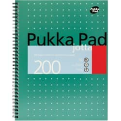 Pukka Pad Notebook JM018 A4 Ruled White 3 Pieces of 100 Sheets