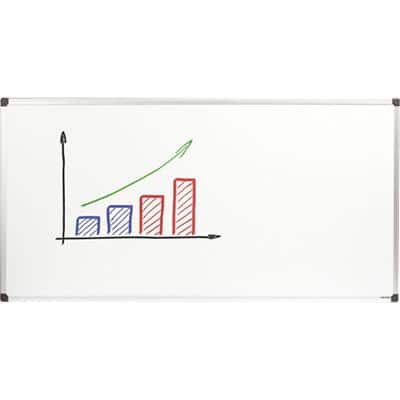 Niceday Wall Mountable Non Magnetic Double Sided Whiteboard Melamine 240 x 120cm