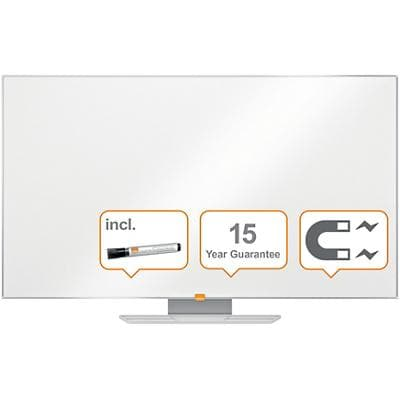 Nobo Nano Clean Magnetic Whiteboard Lacquered Steel 122 x 69 cm