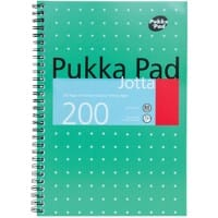 Pukka Pad Jotta Pad 8520-MET Metallic B5 Ruled 8 mm Lines Green 100 Sheets Pack of 3