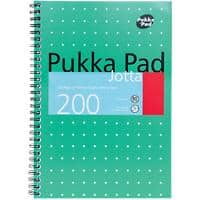Pukka Pad Jotta Pad 8520-MET Metallic B5 Ruled 8 mm Lines Green 3 pieces of 100 sheets