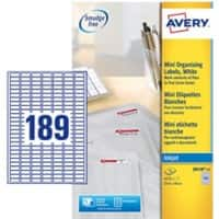 AVERY Zweckform J8658 Multipurpose Label Special format White 100 mm 25 Sheets of 189 Labels
