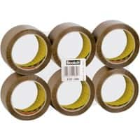 Scotch Packaging Tape Classic Brown 50 mm x 66 m 6 Rolls