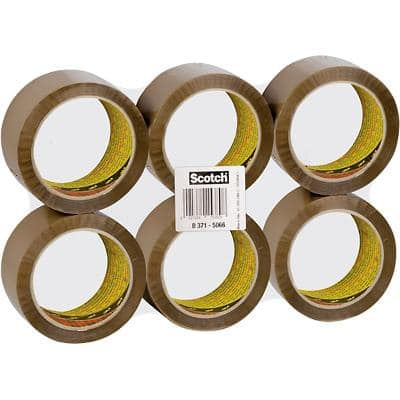 Scotch Packaging Tape 371 50mm x 66m Brown