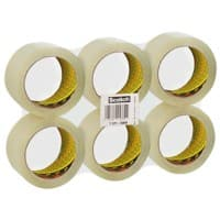 Scotch 371 Packaging Tape 50mm x 66m Transparent 6 Rolls