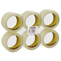 Scotch Packaging Tape Low Noise 48 mm x 66 m Transparent 6 Rolls