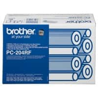 Brother Thermal Transfer Film PC-204RF 9 x 5 x 7.9 cm Black 4 Pieces