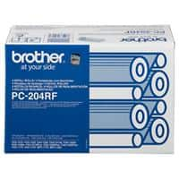 Brother Thermal Transfer Film PC-204RF 9 x 5 x 7.9 cm Black Pack of 4