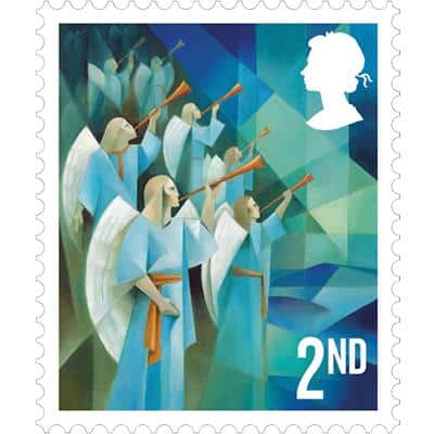 Royal Mail 2nd Class Christmas Postage Stamps Pack of 12