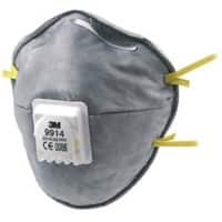 3M Dust Mask GT500077992 Polypropylene, Steel, Polyisoprene, Polyurethane Universal Black, Grey 10 Pieces