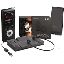 OLYMPUS Dictation DICTATION + TRANSCRIPTION STARTER KIT DS-2600, AS-2400 Black