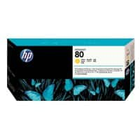 HP 80 Original Printhead and cleaner C4823A Yellow