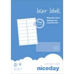 Niceday Labels White 38.1 x 99.1 mm 200 Sheets of 14 Labels