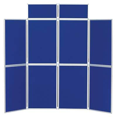 Freestanding Display Stand with 8 Panels Nyloop Fabric Foldaway 619 x 316 mm Blue