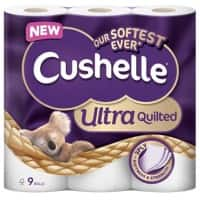 Cushelle Toilet Rolls Quilted 3 Ply 157 Sheets Pack of 9