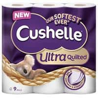 Cushelle Toilet Rolls Quilted 3 Ply 9 Pieces of 157 Sheets