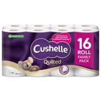 Cushelle Toilet Rolls Ultra Quilted 3 Ply 16 Rolls of 157 Sheets