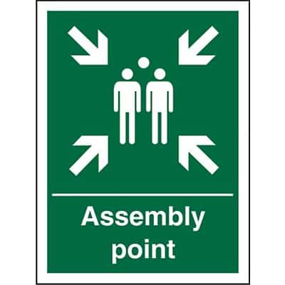 Sign Assembly Point Plastic 20 x 15 cm