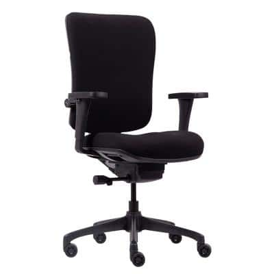 Realspace Basic Tilt Ergonomic Office Chair with Adjustable Armrest and Seat Venice Black
