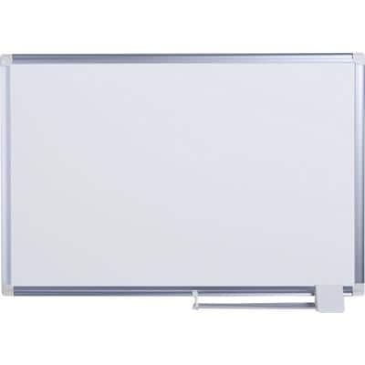 Bi-Office Wall Mountable Magnetic Whiteboard Lacquered Steel Maya 90 x 60 cm