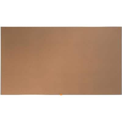 Nobo Cork Board Widescreen Brown 188 x 106 cm