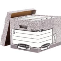 Fellowes Archive Box Grey Cardboard 285 x 333 x 390 mm 10 Pieces