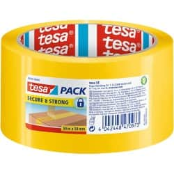tesapack Tape Security 50 mm x 50 m Yellow