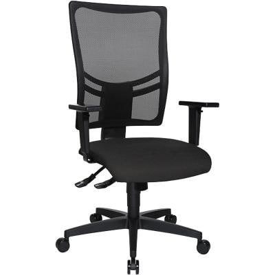 Realspace Synchro Tilt Ergonomic Office Chair Sydney Anthracite