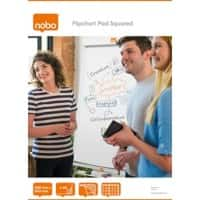 Nobo Flipchart Pad A1 60gsm Squared 40 Sheets